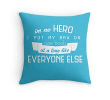 One Boob at a Time Throw Pillow