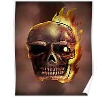 Flaming Skull Design Poster