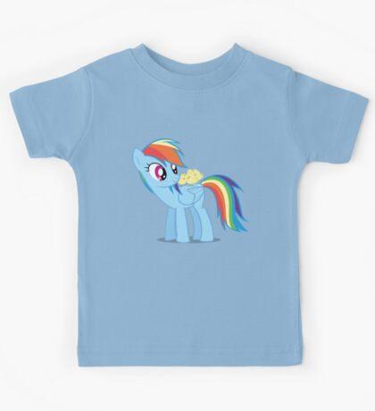 "Rainbow Dash - ""Chicks"" Textless ver. Kids Tee"