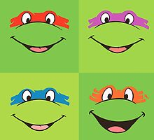 TMNT Teenage Mutant Ninja Turtles Leonardo Michaelangelo Donatello Raphael Mikey Green by CanisPicta
