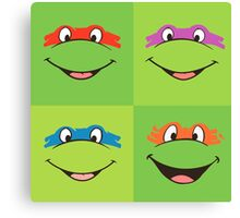 TMNT Teenage Mutant Ninja Turtles Leonardo Michaelangelo Donatello Raphael Mikey Green Canvas Print