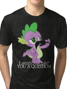 Spike's Mustache Question (US Version) Tri-blend T-Shirt