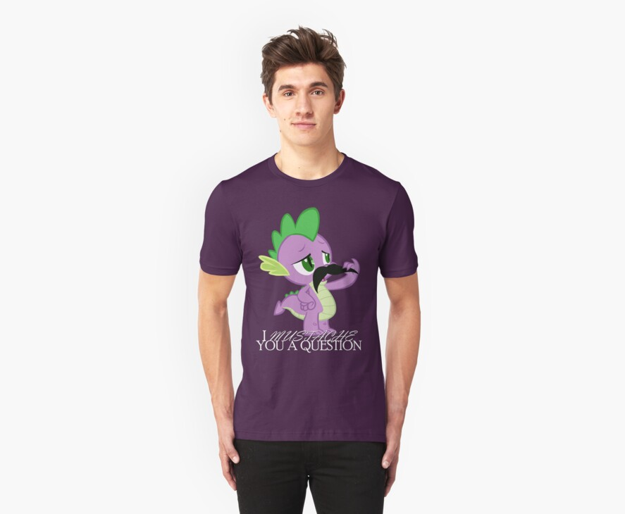 Spike's Mustache Question (US Version) by vigorousjammer