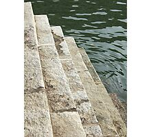 Stairs to Water Photographic Print