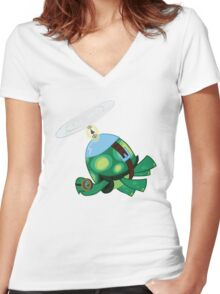 Tank: The Tortoise (Helicopter) Women's Fitted V-Neck T-Shirt