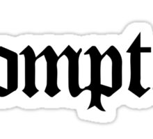 Compton Black Sticker