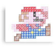Zentangle Mario Canvas Print
