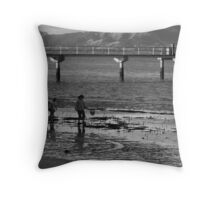 Hunting Crabs Throw Pillow