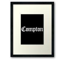 Compton White Framed Print