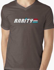 Rarity: A Real Equestrian Pony (Bordered Version) Mens V-Neck T-Shirt