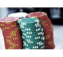 Poker Chip Photographic Print