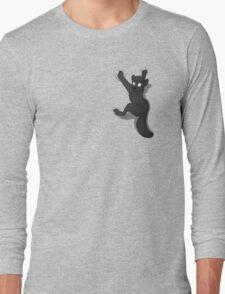 Don't Fall _ Black Wolf Long Sleeve T-Shirt