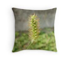 Golden Grass Throw Pillow
