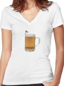 Beer Women's Fitted V-Neck T-Shirt