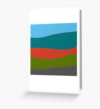 Landscape modern Greeting Card