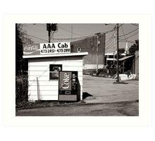 AAA Cab Art Print