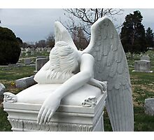 Mourning Angel Photographic Print