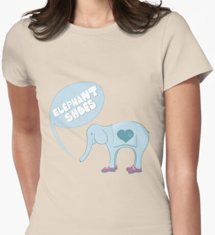 Elephant Shoes Womens Fitted T-Shirt
