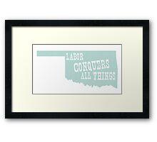 Oklahoma State Motto Slogan Framed Print