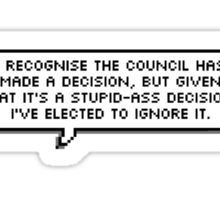 I've elected to ignore it. Sticker