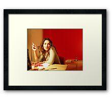 Red Flat Framed Print