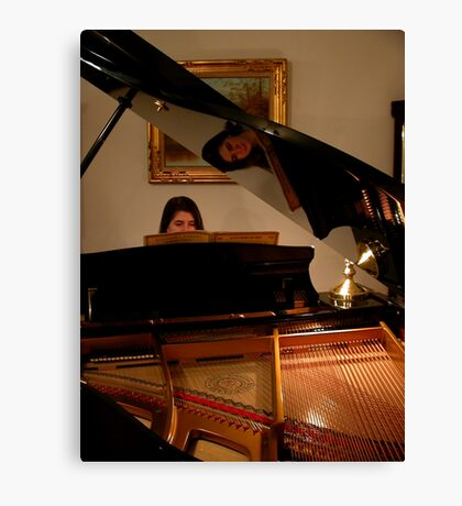 The Piano and its Player Canvas Print
