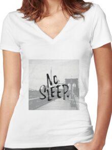 No sleep till... Women's Fitted V-Neck T-Shirt