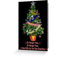 Power Rangers Oh Christmas Tree Greeting Card