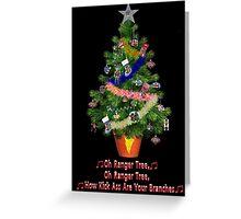 Power Rangers Oh Christmas Tree Greeting Card