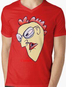 Rooster Man Mens V-Neck T-Shirt