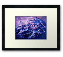 Night waves acrylic painting Framed Print
