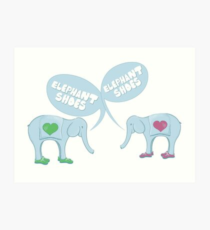 Elephant Shoes - Valentine's Day Card Art Print