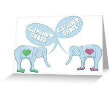 Elephant Shoes - Valentine's Day Card Greeting Card