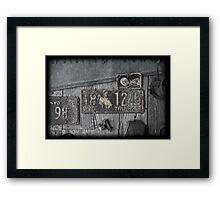 Wyoming License Framed Print