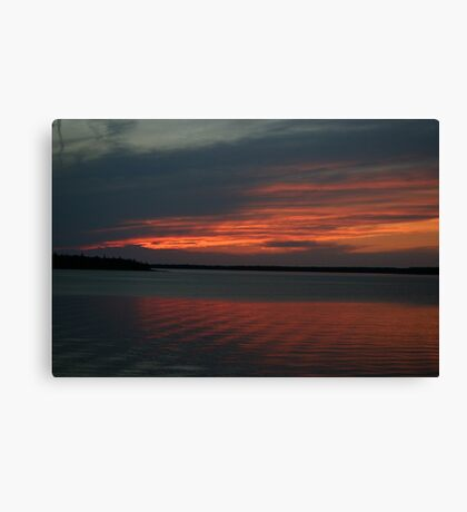 Sunset at Tobermory Canvas Print