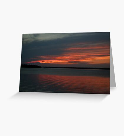 Sunset at Tobermory Greeting Card