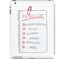 Avengers To Do List iPad Case/Skin