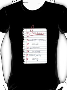 Avengers To Do List T-Shirt