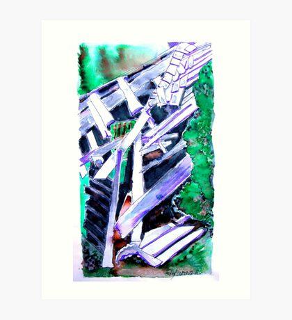 Storm Damaged Barn Art Print