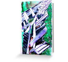 Storm Damaged Barn Greeting Card