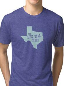Texas State Motto Slogan Tri-blend T-Shirt