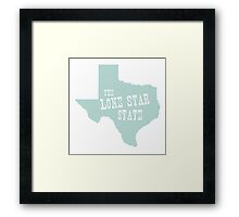 Texas State Motto Slogan Framed Print