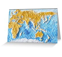 World Map - Recycled Greeting Card