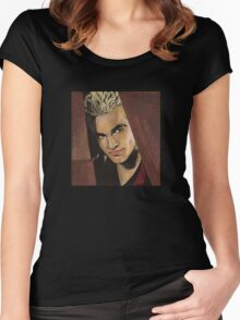 Lovers Walk - Spike - BtVS Women's Fitted Scoop T-Shirt
