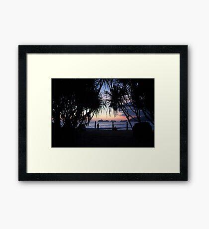Palau Merah (Red Island) Sunset Framed Print