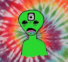 Alien Dude Cheap Beer  by morimori