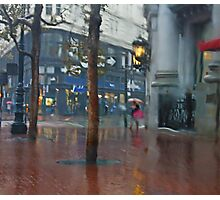 Market Street Corner Lights Photographic Print