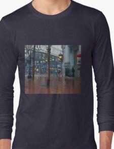 Market Street Corner Lights Long Sleeve T-Shirt