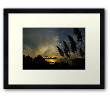 Sunset 2, April 2011 Framed Print