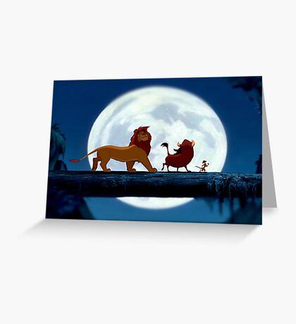 Simba, Pumba, and Timon  Greeting Card